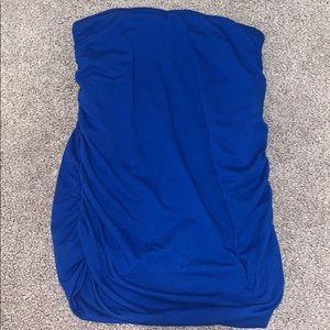 Jersey cloth royal blue skirt
